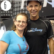 "Kimberly Oehrlein I'm so excited to return for my second year as an Asheville Marathon Ambassador (AMA)! It's been a lot of fun to wear my AMA gear to runDisney events. I even wore it to meet The Oatmeal of ""Beat the Blerch"" fame. The Beat the Blerch Marathon was a high point of my 2014 race calendar!"