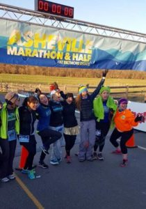 AMA team with me at Start line of AVL Half Marathon